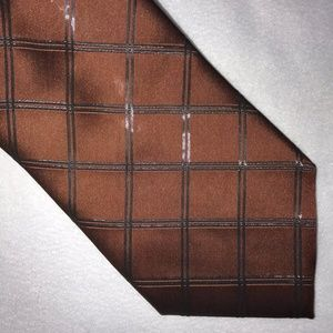 Dolce & Gabbana Brown Diamond Necktie